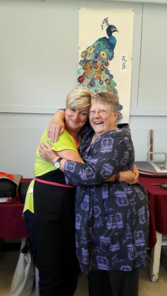 Claire Seaton with Pauline Cherritt at Knuston