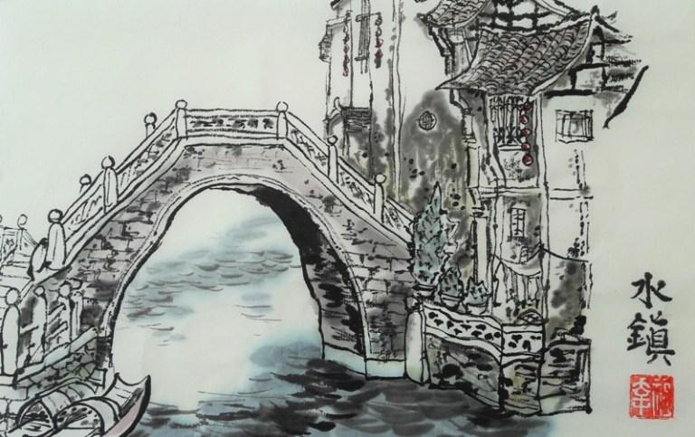 Water town bridge - Claire Seaton