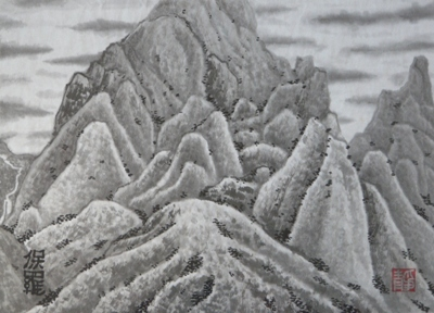 Mountains of Sichuan - Paul Maslowski 1999 33x24cm
