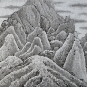 Mountains of Sichuan - Paul Maslowski 1999 33x24cm