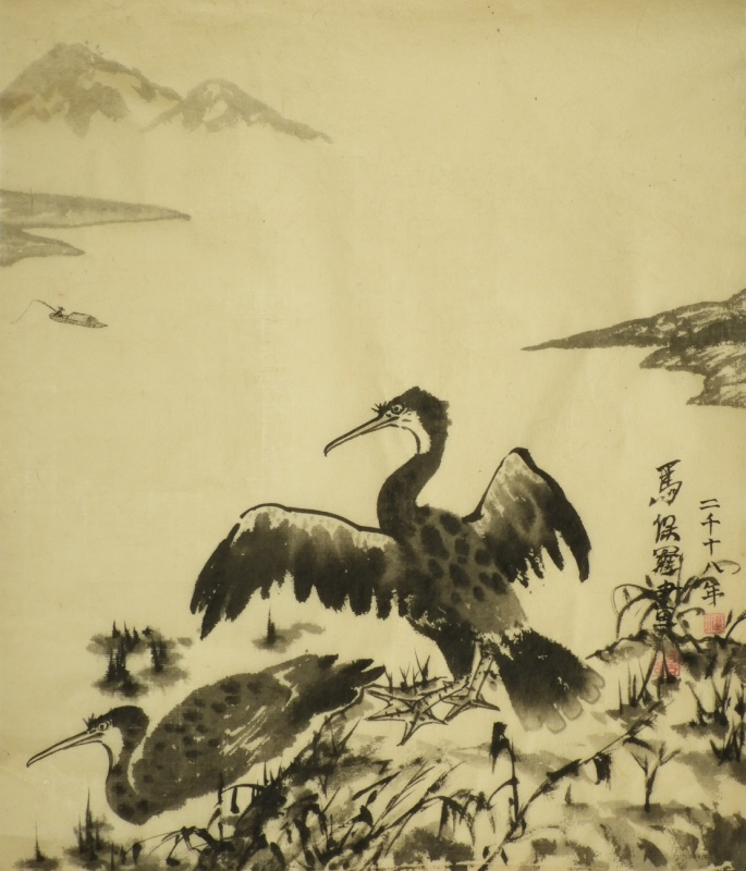 2 cormorants by Paul Maslowski 2018