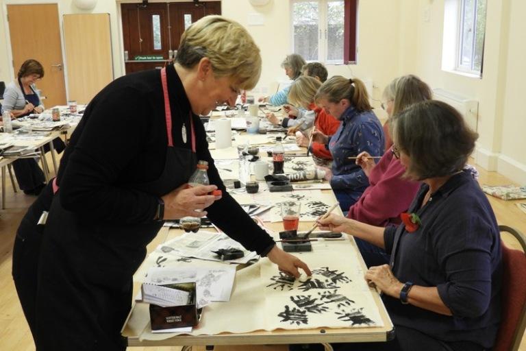 Claire teaching at Litchborough 2018