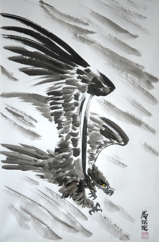 Eagle diving 02 by Paul Maslowski 2011