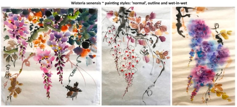 Jane Dwight's Wisteria painting styles