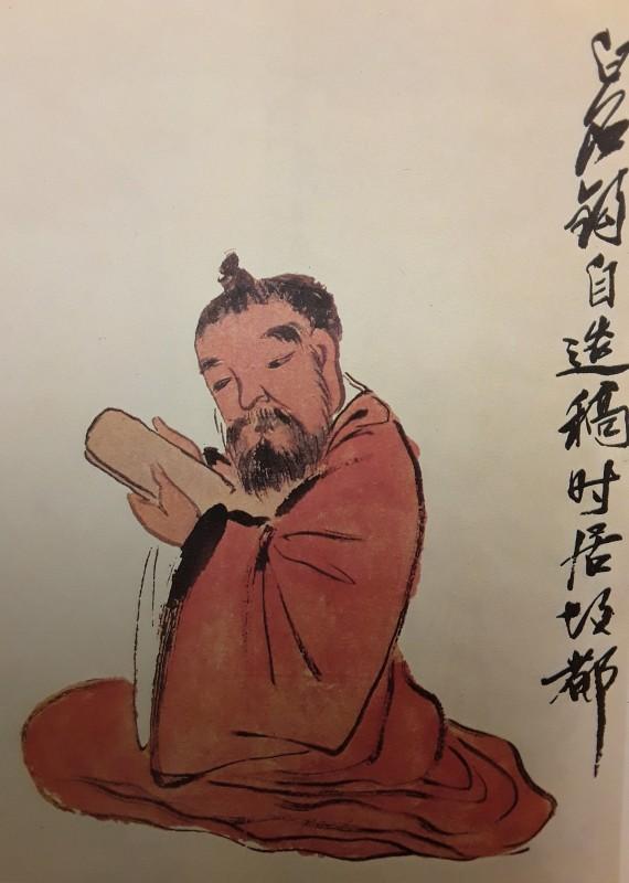 Appreciating an inkstone - Qi Baishi 1920s 50x33cm