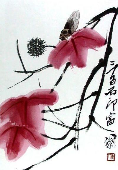 Cicada on maple - Qi Baishi