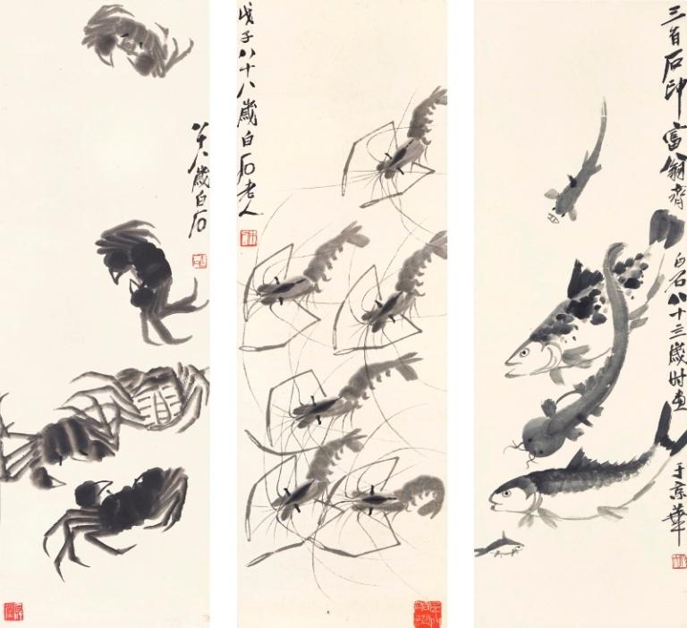 Crabs, Shrimp and Fish - Qi Baishi