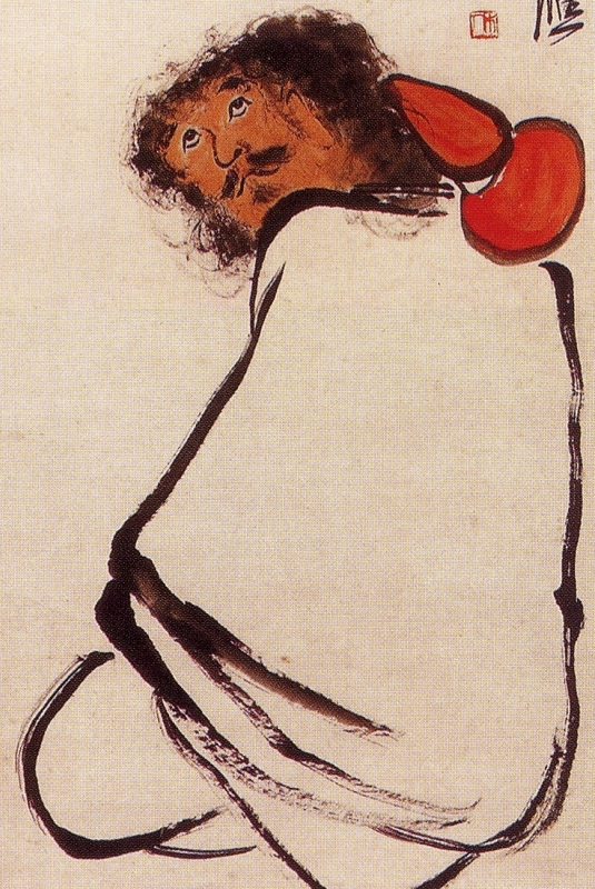 Li Tieh-kuai - detail - Qi Baishi 1927 106x32cm