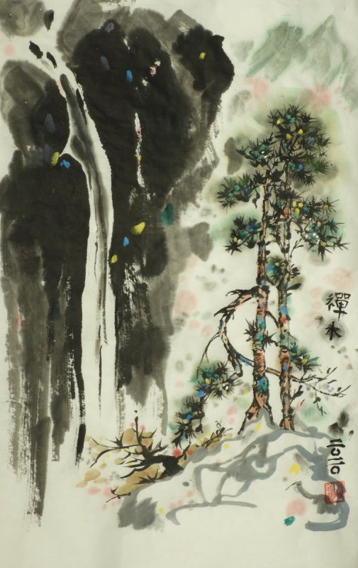 Waterfall after Wu Guanzhong - Claire Seaton 2020