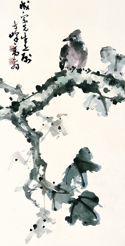 Bird on branch - Gao Qifeng
