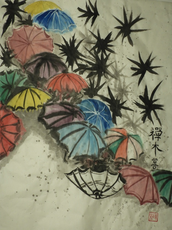 Chinese Umbrellas - C Seaton 2020